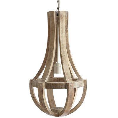 Maison Wood Pendant Lamp Antique White I Pier e