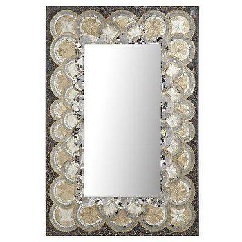 Mirrors - Scalloped Mosaic Mirror I Pier One - scalloped mosaic mirror, gold and glass scalloped mirror, gold and glass mosaic mirror,