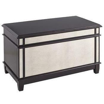 Storage Furniture - Hayworth Trunk - Espresso I Pier One - mirrored trunk, mirrored storage trunk, antiqued mirrored trunk,