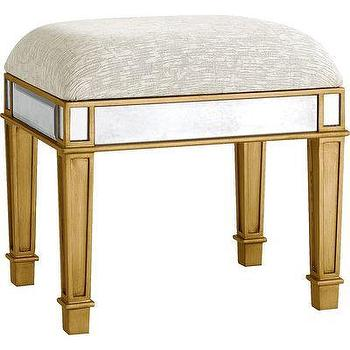 Hayworth Vanity Bench, Gold I Pier One