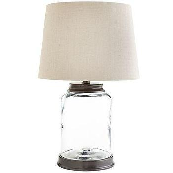 Lighting - Fillable Cannister Lamp I Pier One - fillable lamp, glass lamp, glass and iron lamp, fillable table lamp,