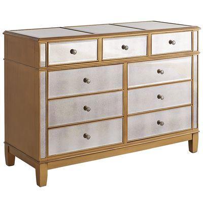 Furniture - Hayworth Dresser - Gold I Pier One - gold mirrored dresser ...