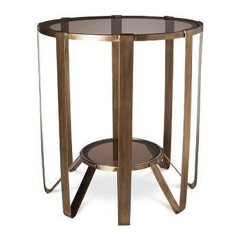 Tables - Nate Berkus Round Glass Cage Table - Gold I Target - modern gold accent table, gold cage accent table, antiqued gold accent table,
