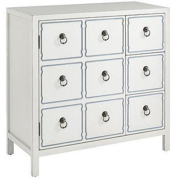 Storage Furniture - Quenn Cabinet - White I Pier One - white faux drawer cabinet, white draper style cabinet, white hollywood regency cabinet,
