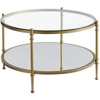 Clara Coffee Table, Gold I Pier One