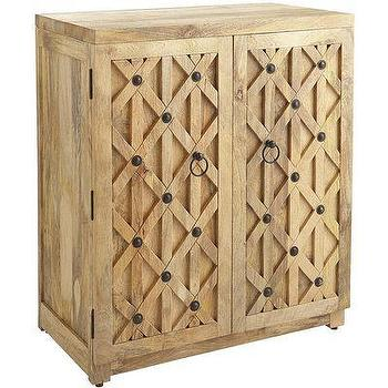 Storage Furniture - Corinna Wine Cabinet I Pier One - mango wood wine cabinet, crosswork wine cabinet, criss crossed wine cabinet,