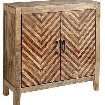 Storage Furniture - Kadhi Cabinet I Pier One - chevron front cabinet, chevron wood cabinet, chevron front wood cabinet,