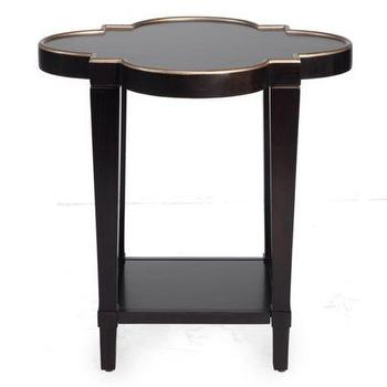 Tables - Addison End Table | Z Gallerie - black and gold end table, scalloped black end table, scalloped black side table,