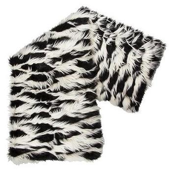 Decor/Accessories - Nate Berkus Faux Fur Throw - Black and White I Target - black and white faux fur throw, faux fur throw, black and white throw,