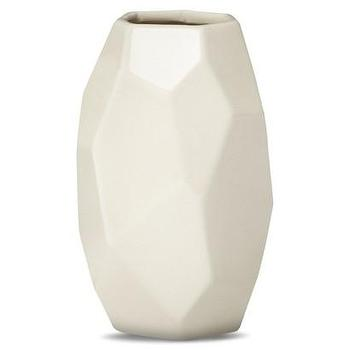 Decor/Accessories - Nate Berkus White Facet Vase I Target - faceted white vase, modern white vase, geometric white vase,