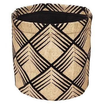 Decor/Accessories - Nate Berkus Printed Woven Storage Bin I Target - woven printed storage bin, black printed woven bin, printed woven storage basket,