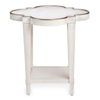 Tables - Addison End Table | Z Gallerie - scalloped white end table, scalloped accent table, white and gold end table,
