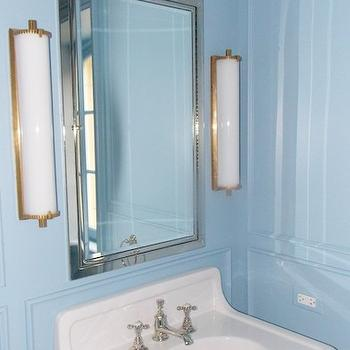 Blue Bathroom Wall Paint, Transitional, bathroom, Farrow and Ball Lulworth Blue, Christine Dovey