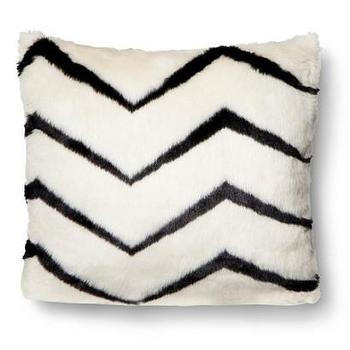 Pillows - Nate Berkus Zig Zag Faux Fur Pillow I Target - black and white faux fur pillow, zig zag faux fur pillow, black and white zigzag pillow,