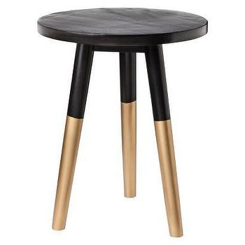 Tables - Nate Berkus Black and Gold Accent Table I Target - gold dipped accent table, black and gold accent table, black and gold tripod table,
