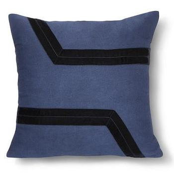Pillows - Nate Berkus Navy Velvet Applique Pillow I Target - navy velvet pillow, navy and black velvet pillow, navy applique pillow,