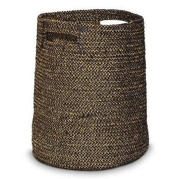 Decor/Accessories - Nate Berkus Cotton/Lurex Braided Basket I Target - braided storage basket, black braided storage basket, black woven storage basket,