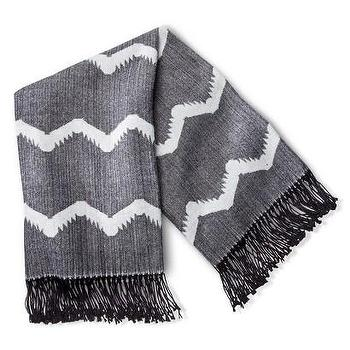 Decor/Accessories - Nate Berkus Woven Peak Throw I Target - gray and white zigzag throw, gray and white fringed throw, gray zig zag throw,