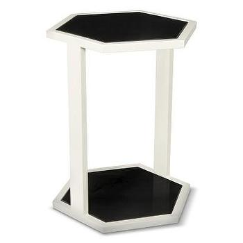 Tables - Nate Berkus Black and White Hex Table I Target - black and white hex end table, hex side table, modern hex side table,