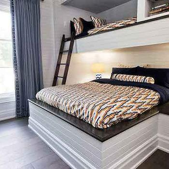 Built In Kids Beds, Contemporary, boy's room, Benjamin Moore Cascade White, House & Home
