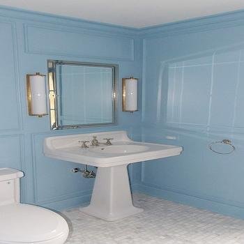 Calliope Bath Light, Transitional, bathroom, Farrow and Ball Lulworth Blue, Christine Dovey