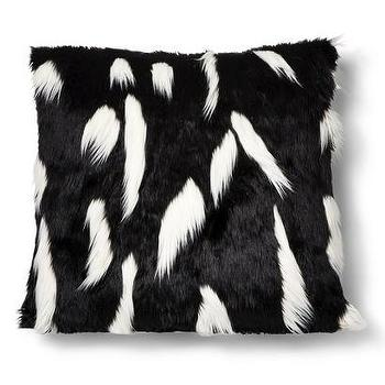 Pillows - Nate Berkus Faux Fur Floor Pillow Black and White I Target - black and white faux fur pillow, black and white fur pillow, black faux fur pillow,