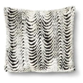 Pillows - Nate Berkus Faux Fur Stripe Pillow I Target - black and white faux fur pillow, faux fur striped pillow, faux fur stripe pillow,