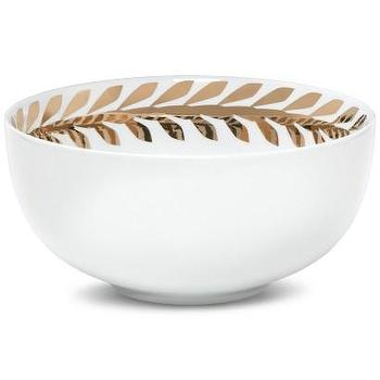 Decor/Accessories - Nate Berkus Laurel Leaf Bowl I Target - white and gold laurel leaf bowl, laurel leaf bowl, modern laurel leaf vase,