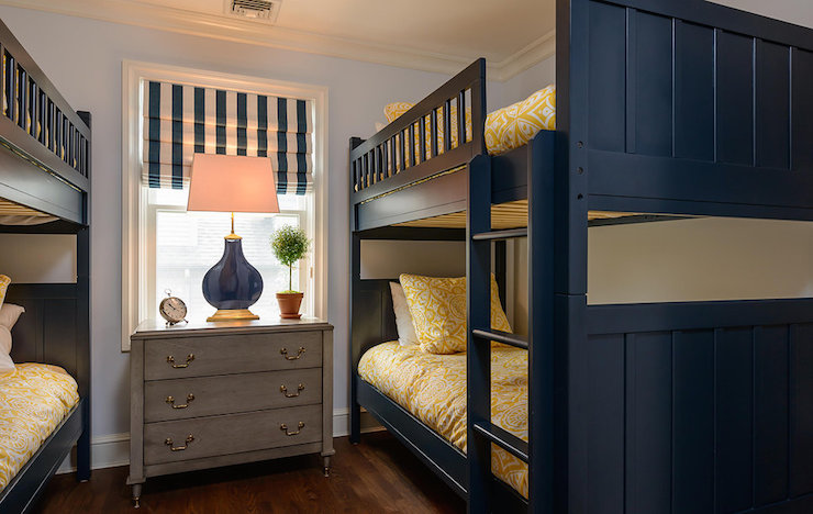 Navy Bunk Beds Transitional Boy S Room Space Saavy