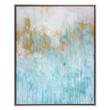 Art/Wall Decor - Blue Lagoon | Z Gallerie - blue and gold abstract art, turquoise and gold abstract art, blue and gold canvas art,