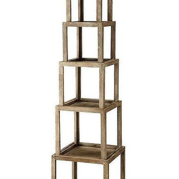 Storage Furniture - Brooklyn Stackable Etagere | HomeDecorators.com - stackable etagere, wooden etagere, stacked etagere,