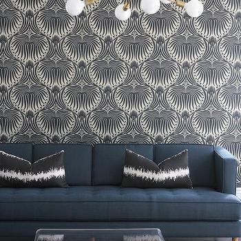 Navy Tufted Sofa, Contemporary, living room, Owens and Davis