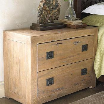 Seating - Marrakesh Bedroom Furniture I Horchow - ironwood nightstand, rustic wood nightstand, wood nightstand with iron hardware,