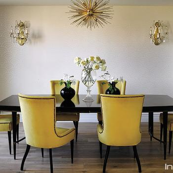 Yellow Dining Chairs, Transitional, dining room, InStyle Magazine