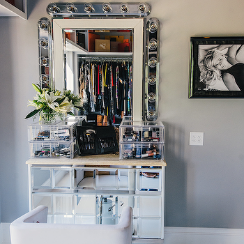 Mirrored Vanity, Contemporary, closet, Neiman Marcus Blog