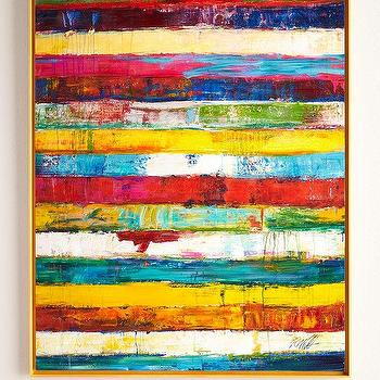 RFA Fine Art Stripes Original Painting I Horchow