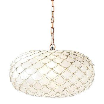 Capiz Scalloped Chandelier I Serena & Lily