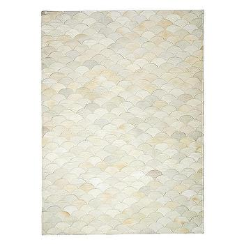 Rugs - Scalloped Hide Rug | Serena & Lily - scalloped hide rug, scalloped cowhide rug, fish scale hide rug,