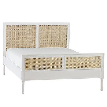 Beds/Headboards - Harbour Cane Bed - White | Serena & Lily - white cane headboard, cane bed, white cane bed, woven cane bed,