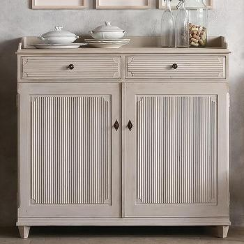 Storage Furniture - Eloquence Swedish Sideboard I Layla Grayce - swedish sideboard, gray swedish sideboard, fluted gray sideboard, traditional gray sideboard,