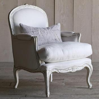 Seating - Eloquence La Belle Two-Tone Silver Bergere I Layla Grayce - silver bergere chair, french bergere chair, gray bergere chair,