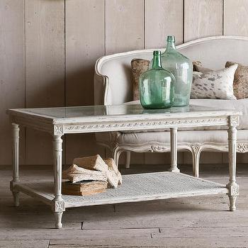 Tables - Eloquence Le Courte Oyster Coffee Table I Layla Grayce - french cane coffee table, french carved coffee table, french gray coffee table,