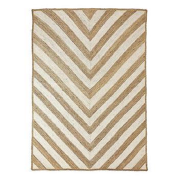 Rugs - Chevron Jute Rug | Serena & Lily - chevron jute rug, chevron print rug, neutral chevron rug,