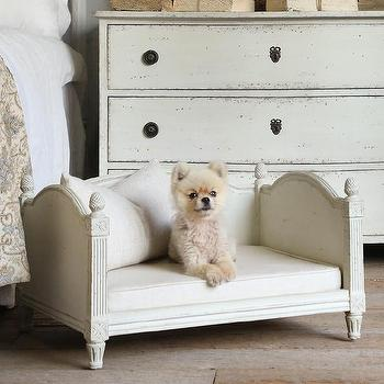 Decor/Accessories - Eloquence Theodore Swedish Grey Dog Bed I Layla Grayce - swedish dog bed, traditional dog bed, carved dog bed, ornate dog bed,