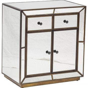 Storage Furniture - Stein World Antique Mirror Storage Cabinet I High Fashion Home - mirrored storage cabinet, antique mirrored cabinet, antiqued mirrored nightstand,