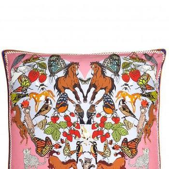 Pillows - I Love Everything Pillow I Calypso St. Barth - pink animal pillow, i love animals pillow, victoria murdoch pillow,