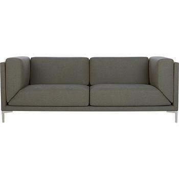 Seating - ciudad sofa | CB2 - modern gray sofa, gray box frame sofa, contemporary gray sofa,