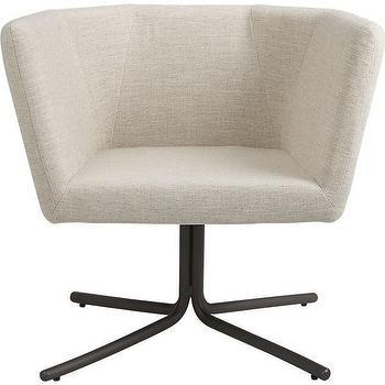 Seating - facetta natural chair | CB2 - modern swivel chair, modern linen chair, modern swivel chair,