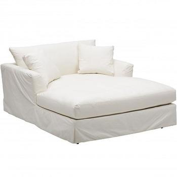 Seating - Andre Slipcover Chaise I High Fashion Home - white slipcovered chaise, oversize slipcovered chaise, slipcovered chaise armchair,
