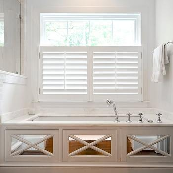 Mirrored Tub Surround, Transitional, bathroom, Either Orr
